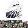 Peças da motocicleta do Aftermarket Frete grátis Garra Esqueleto de Mão Do Crânio Espelho para a Kawasaki Ninja VN 750 800 900 1500 1600