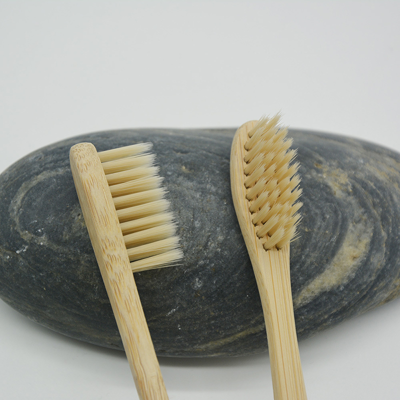 3091 2pcs/pack free shipping natural charcoal bristle 100% eco friendly biodegradable bamboo tooth brush 2pcs pack 100