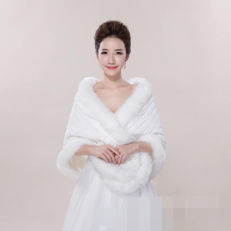 Wedding Gown Wraps: 2017 Luxury Winter Wedding Coats Warm Evening Dresses