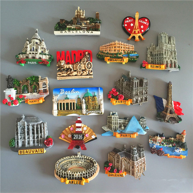 France Switzerland Germany Tourism Scenery Fridge Magnets Fridge Magnet  Souvenir Home Decor Accessories