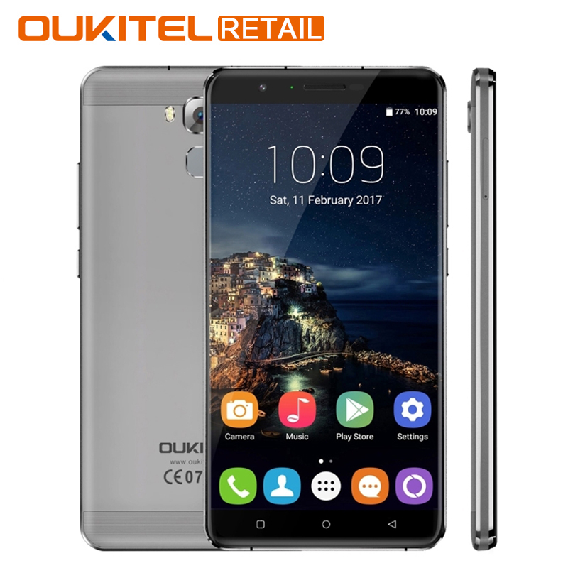 Oukitel U16 Max 6.0 3G RAM 32G ROM Mobile Phone Android 7.0 MTK6753 Octa Core Fingerprint Touch ID 4000mAh 13.0MP Smartphone