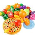 Pretend Play Classic Kitchen Toys Cutting DIY Toy Kids Children Fruits Vegetables Plastic Food Toy 24 pcs/ set