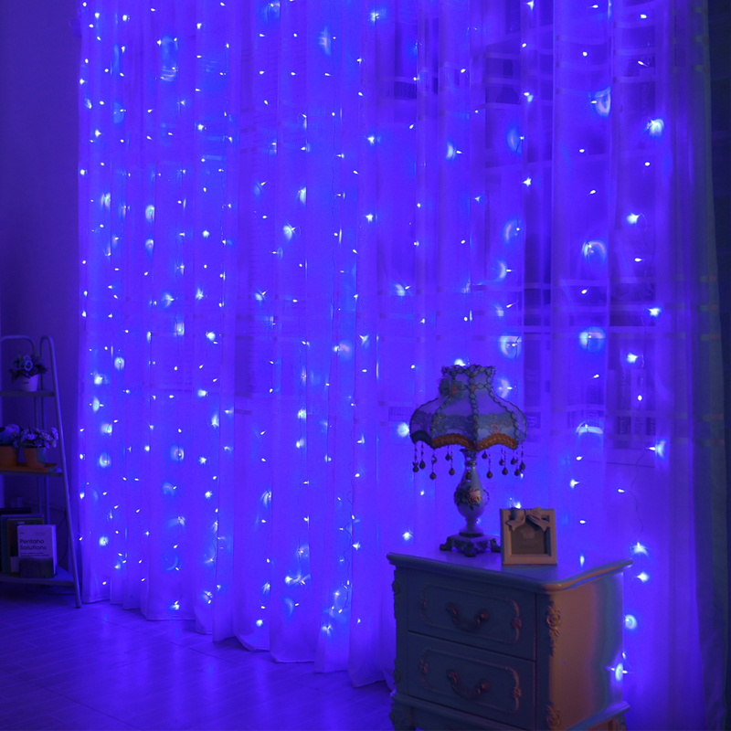 3M * 3M LED Icicle String Lights Xmas Fairy - Ferie belysning - Foto 5