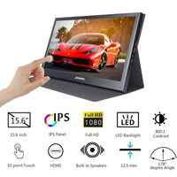 15.6 inch IPS Monitor 1920*1080 Resolution PC HDMI LCD Touch Screen Thickness Portable Display for Raspberry Pi PS3 PS4 Switch