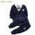 Líder urso Moda Bebê Menino Define Outono Estilo Casual Roupa Do Bebê Arco Lapela Bonito Curto-de mangas compridas Crianças Terno de Trilha traje
