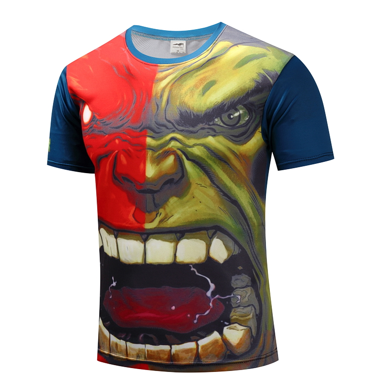 Captain America 1 old captain America/winter soldier/The hulk/model leisure T-shirt man short sleeve T-shirt