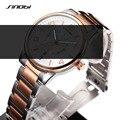 Marca SINOBI Relógios Luminosos Homens de Negócios Calendário Relógio Amantes de Quartzo Analógico Relógios de Pulso Relógio Do Esporte Das Mulheres Relogio masculino