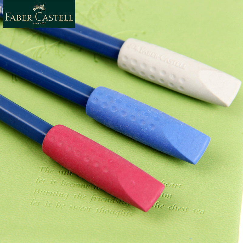 Faber-Castell Cute Eraser Pen Cap 3Pcs/Set Multi-function Rubber Pen Cap Stationery Eraser Pencil Extender Pencil Rubber 1870