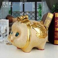 Керамическая Zhaocai Милая свинья сберегательная копилка для домашнего интерьера вино подарок украшение для детей
