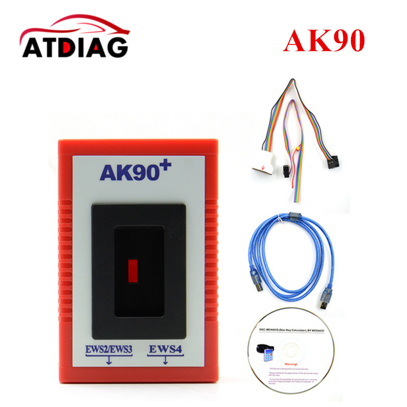 2017 New AK90 For BMW ak90+ AK90 Key Programmer for All BMW EWS Newest Version V3.19 For BMW EWS with Free Shipping AK90 cas plug for vvdi 2 for bmw or full version add making key for bmw ews vvdi2 cas plug