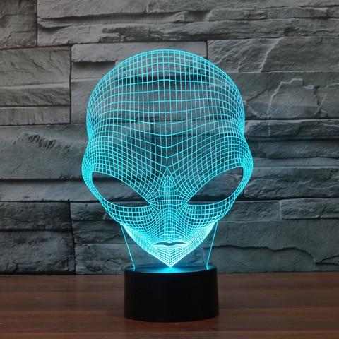 marciano 3d novidade luz colorida touch led
