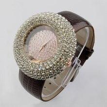 Nuevo de Las Mujeres Rhinestone Relojes Relojes de Vestir de Cristal Llena de Diamantes de Lujo de Las Mujeres Relojes de Mujer de Cuarzo Relojes de 4 Colores