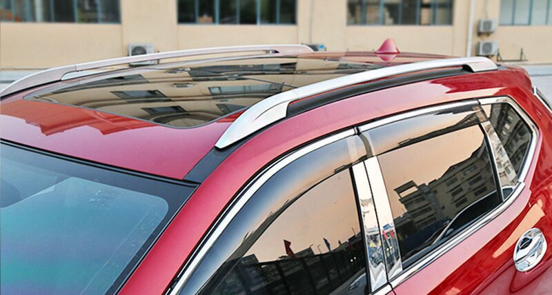 silver Roof Rack side Rails luggage carriers bars For NISSAN Rogue X-trail 2014 2015