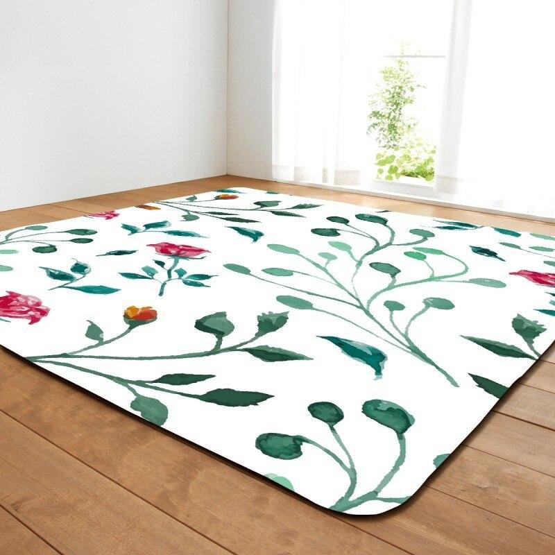 Tapis de maison de peinture de couleur tapis de zone douce pour le salon tapis fleuri pour la chambre tapis antidérapant grand tapis de canapé