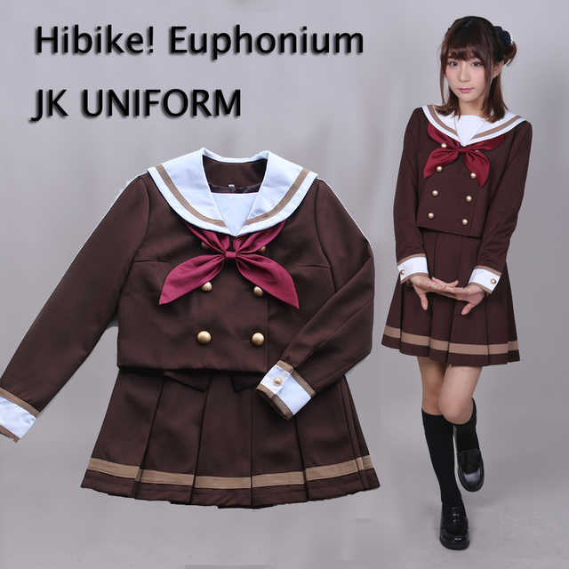 db20310059 Anime hibike! Bombardino Cosplay japonés uniforme escolar uniforme traje de  invierno Tops blusa + Falda