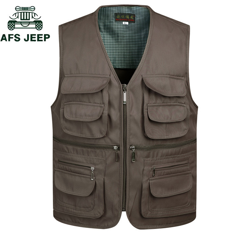 Vests & Waistcoats Temperate New 2018 Multi-pocket Classic Waistcoat Male Sleeveless Vest Jacket Men Waterproof Quick Dry Photographer Shooting Mens Vest
