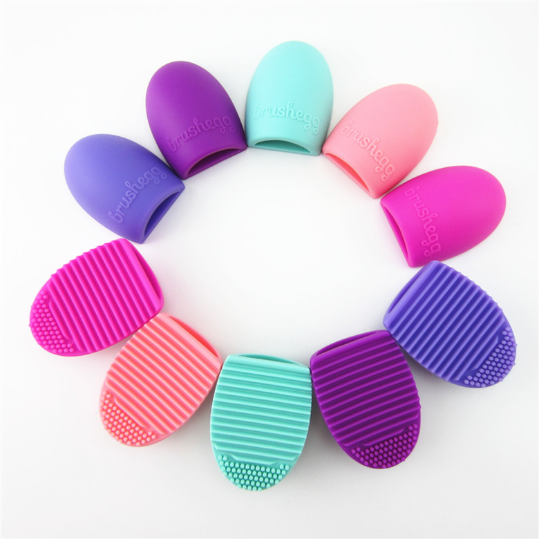 Hot Brushegg Clean brushes Makeup Wash Brush Silica Glove Scrubber Board Cosmetic Cleaning Tools Made beauty