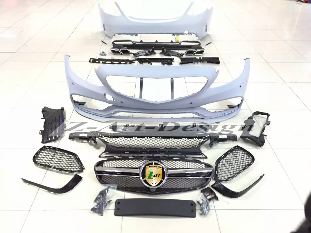 Pp plastic tuning body kit for mercedes benz c class w205 for Mercedes benz spare parts price list