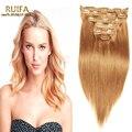 Moda rubio Clip en extensiones de cabello 7 8 10 unids 7A Remy Clip en el cabello humano 100 - 220 G 100% Real Clip en extensiones de cabello humano