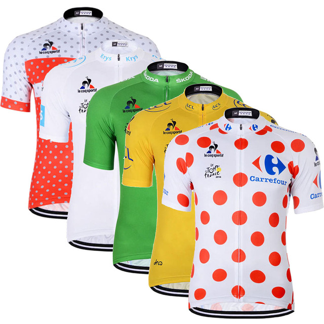 Special Price Tour de France Cycling Jersey Shirt For Men Short Sleeve  Summer Pro Team MTB 272fa21c8