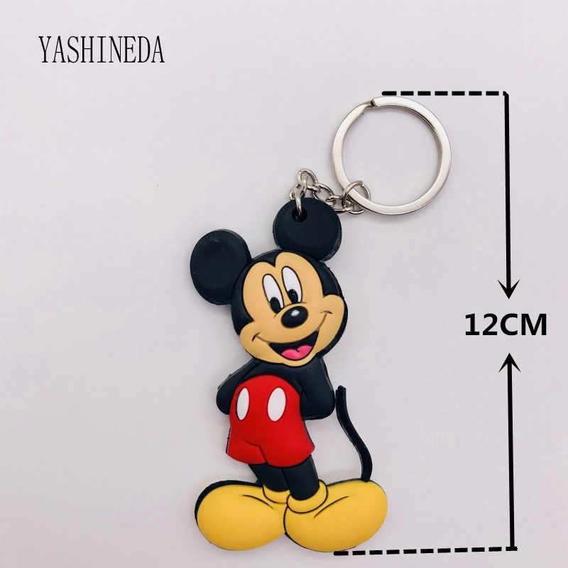 1 шт. мультяшная фигурка Микки Минни брелок 3D двухстороннее кольцо для ключей милый ПВХ аниме брелок Детская игрушка брелок для ключей подарок