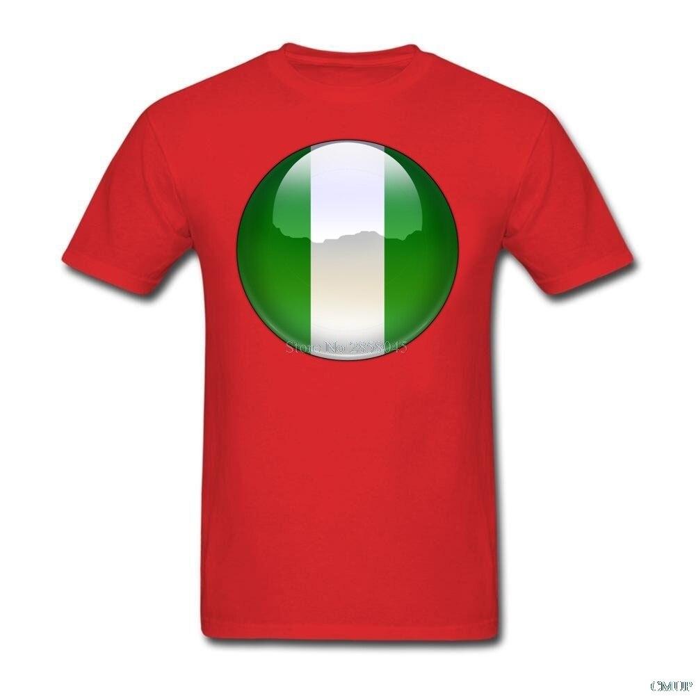 Shirt design in nigeria - Summer New Print Casual Slim T Shirt Nigeria Flag Jewel Orchestra Summer Cool Design