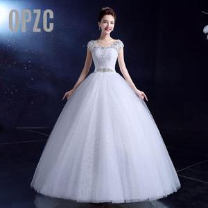 Image 1 - אופנה קלאסי רומנטי אדום חתונת שמלה מתוקה אורגנזה פניני Ruched חתונה שמלות יפה מסיבת כדור שמלה מותאם אישית