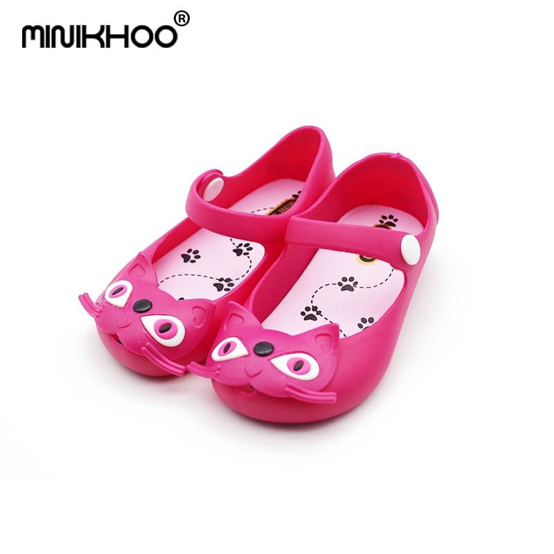 Mini Melissa Cats Brazilian Jelly Sandals Jelly Shoes Cat Princess Sandals Baby Shoes Children Beach Shoes Breathable Sandals