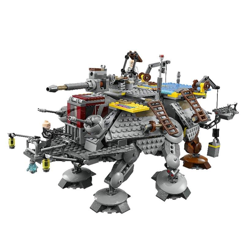 ФОТО bricks 740Pcs Star Wars Captain Rex's AT-TE 75157 Building Blocks Compatible with bricks STAR WARS Toy 05032 Boys Toys Gift