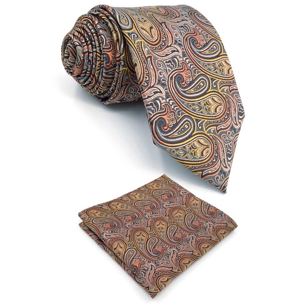 848f595b2769 B9 Multicolor Paisley Mens Gravatas De Seda Gravata Set Casamento Moda  laços para homens Marca New Lenço extra longo tamanho 63