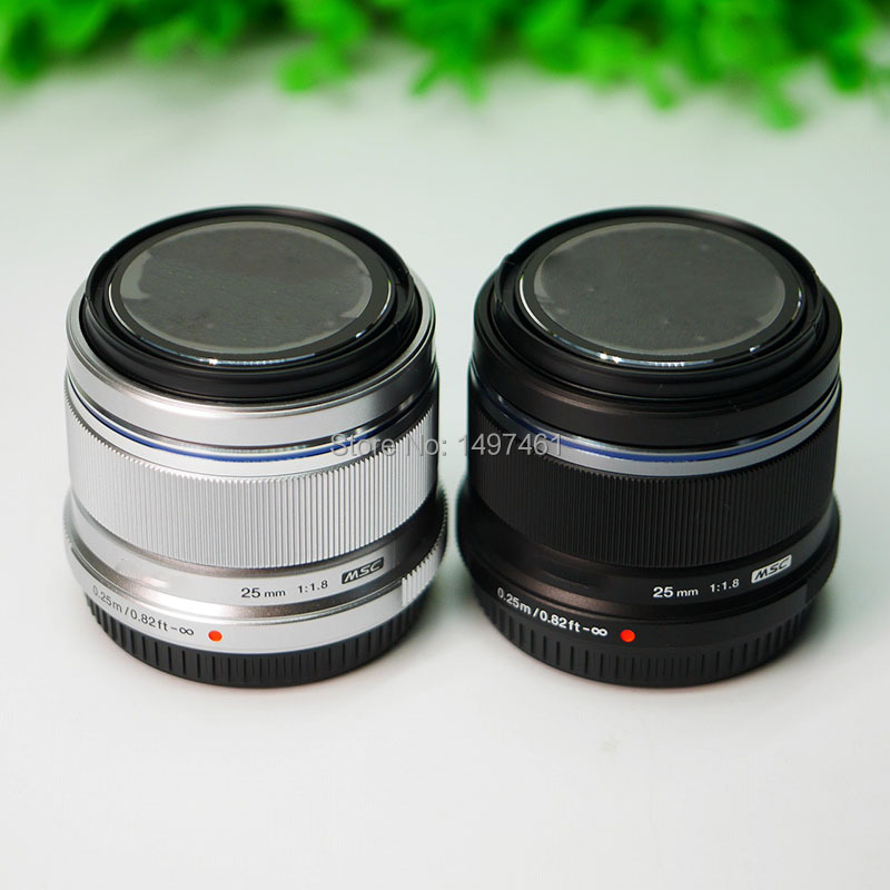 Silver/Black M.ZUIKO DIGITAL 25mm F1.8 Lens For Olympus E-P5 E-PL8 E-PL7 E-PL6 OM-D E-M1 E-M1 Mark II; E-M5 II ;M10 II IIIcamera