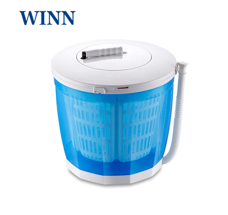Hand-operated Manual Washing Machine For Baby Clothes Mini Washer For Cleaning Vegetables Fruit 2kg Single Tube Dryer