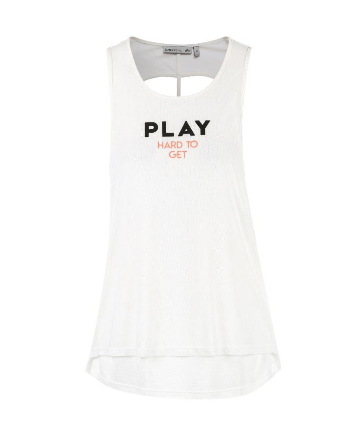 ONLY PLAY Letter Print Backless Singlet | 118103506 11