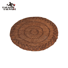 Hand Knitting Natural Palm Silk Mat Coasters Wood Slices Bar Mats Reclaimed Willow 1 Piece