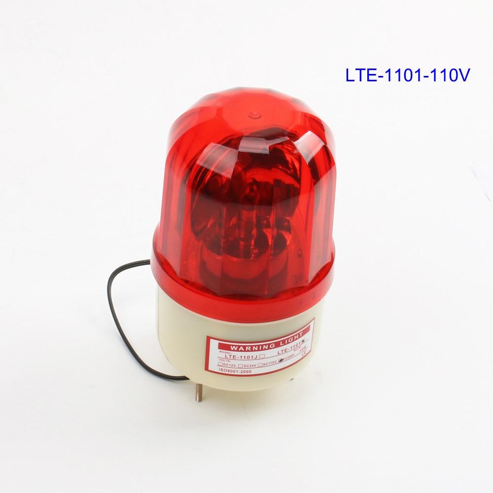 AC110V Blue Rotating Beacon Warning Light Lamp Spiral Fixed LTE-1101