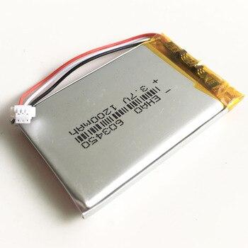 Batería recargable LiPo de polímero de litio de 3,7 V y 1200mAh con conector JST de 1,0mm y 3 pines para PAD camera GPS Speaker laptop 603450