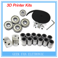 3d Printer Reprap Prusa I3 Movement Kit GT2 Belt Pulley 608zz Bearing Lm8uu 624zz Bearing 5