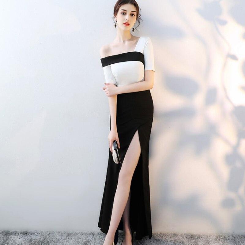 Plus la taille XS-XXL Mode 2019 Sexy off épaule Femmes moulante robe Haut De Split Robes Vintage Élégant Femme La Robe Robes