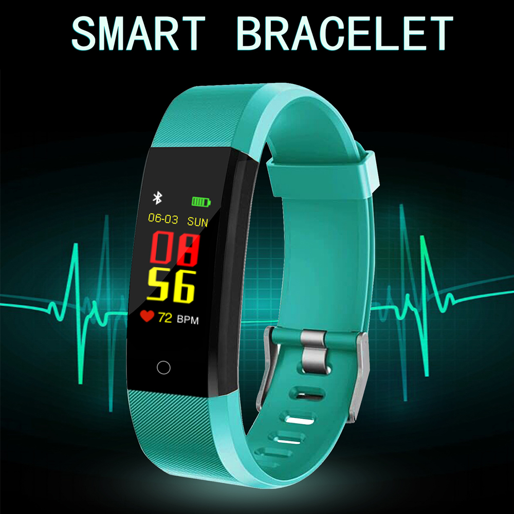 2019 Smart Watch Health Monitor Heart rate Blood Pressure Pedometer Bluetooth Waterproof Sports Bracelet PK Miband Fitbit in Women 39 s Watches from Watches