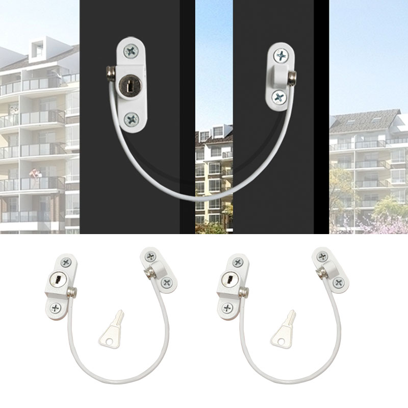 2Pcs/Lot Child Protection Window Limiter Stainless Steel Window Lock Child Baby Safety Window Protection Locks On The Windows