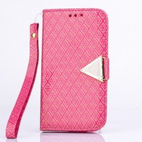 S7 Handbag Gorgeous Leather Case Flip Cell Phone Cover For Samsung Galaxy S7 Wallet Women Capa