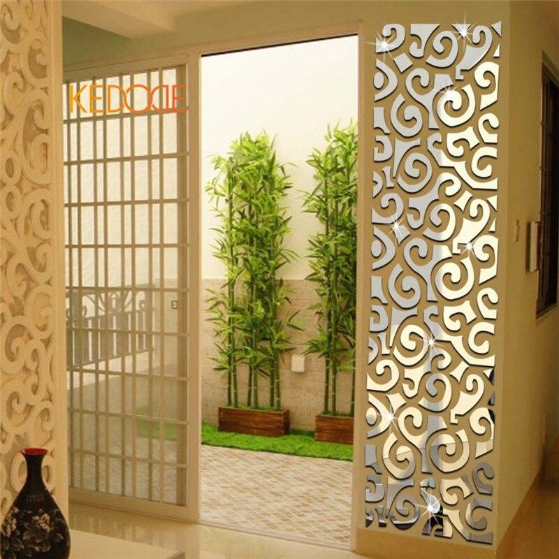 KEDODE Rectangular 3D crystal decoration wall mirror auspicious ...