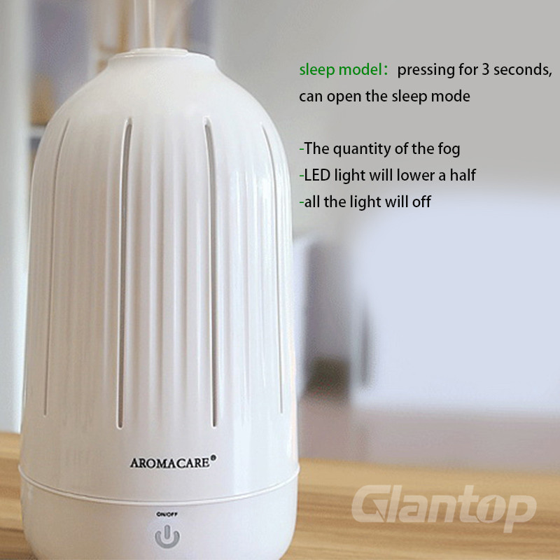 Glantop New Arrival Diffuser Colorful Ultrasonic Humidifier for household Essential oil diffuser with EU/AU/UK/US plug