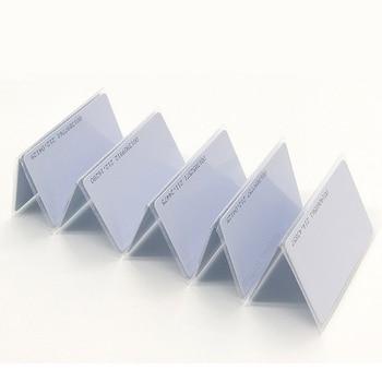 100pcs cartões RFID 125KHz EM4100 TK4100 etiqueta de proximidade de cartão inteligente RFID para controle de acesso 1