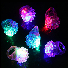 Rave Led Party Strawberry LED/Light up/Flashing/Glow Finger Ring Event Glow Party Supplies Luminous Toys Christmas Decoration