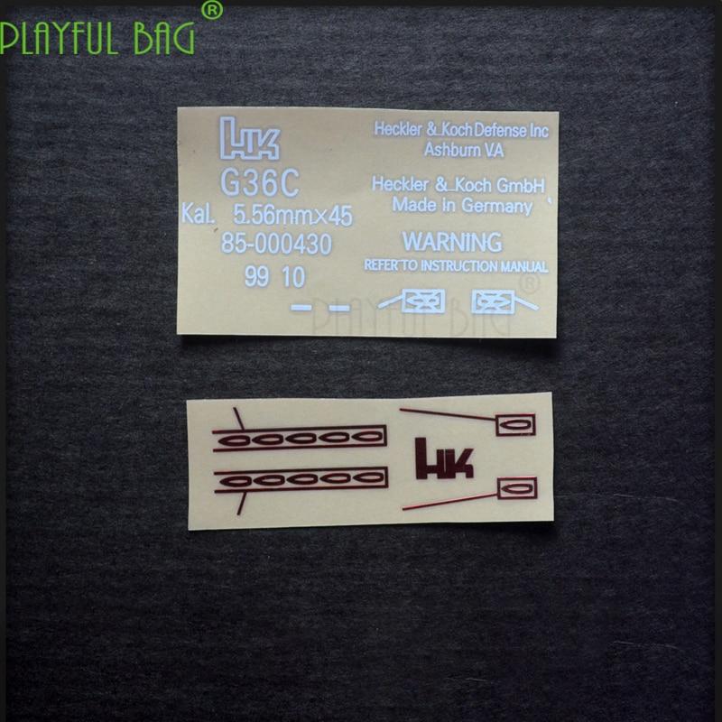 G36C Metal Waterproof DIY Sticker New Will HK 416Jinming SCAR For M4 8 Generation Electric Series Toy Water Bomb Gun Ak74U L51