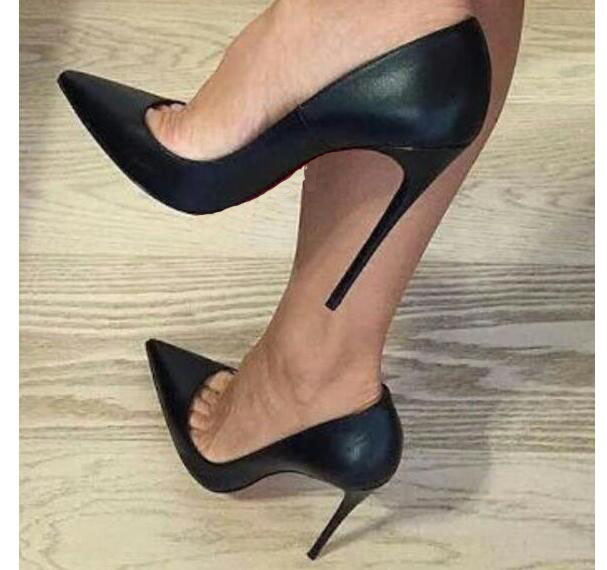 High Heels Shoes 12cm Stiletto Pointed Toe Woman Sexy Party Shoes Office Lady Wedding Party High Heels Plus Size
