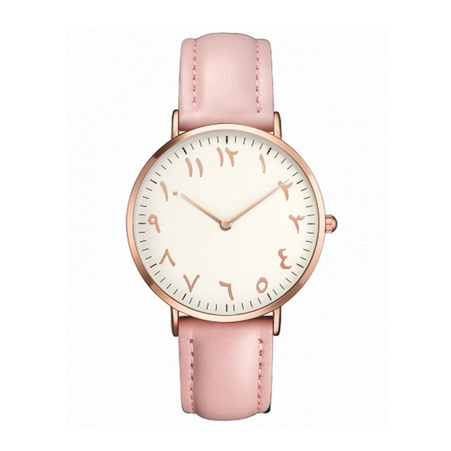 2018 Top Brand Women Watches Fashion Ultra Thin Arabic Numerals Quartz Wrist Wat