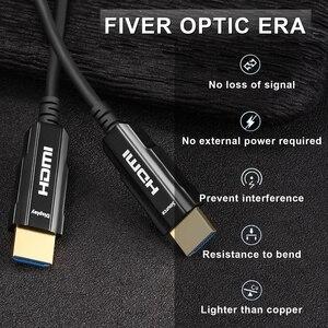 Image 2 - HDMI 2.0 ケーブル 4 18K 60Hz 光ファイバ HDMI ケーブル 2.0 2.0a 2.0b HDR hdtv 用 Xiaomi ボックスプロジェクター PS4 ケーブル HDMI 10 メートル 15 メートル 30 メートル 50 メートル