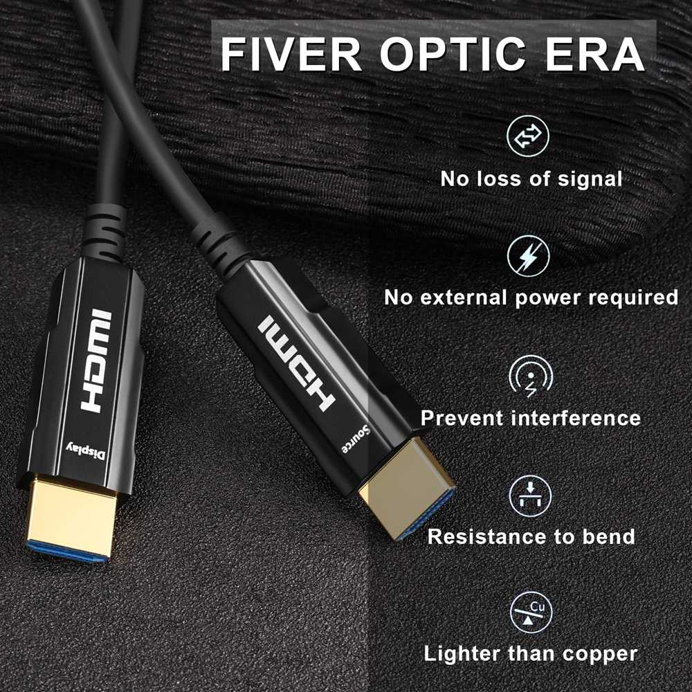 Kabel HDMI 2.0 4 K 60Hz Fiber Optic Kabel HDMI 2.0 2.0a 2.0b HDR untuk HDTV Xiaomi Kotak Proyektor PS4 Kabel HDMI 10 M 15 M 30 M 50 M